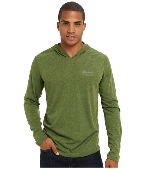 Marmot - Saxon Hoody (Green Ridge Heather) Men's Long Sleeve Pullover