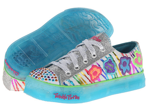 SKECHERS KIDS - Boogie Lights - Star Stuff (Little Kid/Big Kid) (White/Multi) Girl
