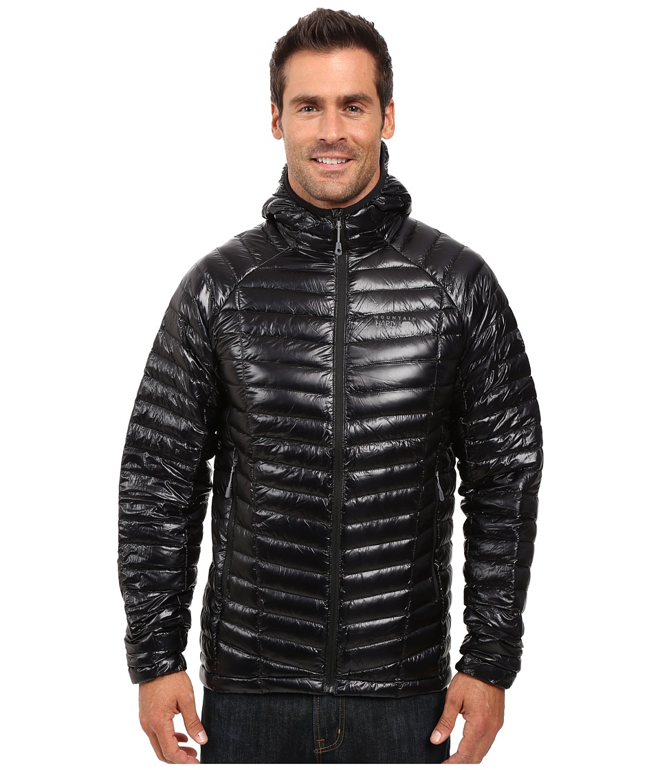 Mountain Hardwear - Ghost Whisperer Hooded Down Jacket (Black) Men's Coat