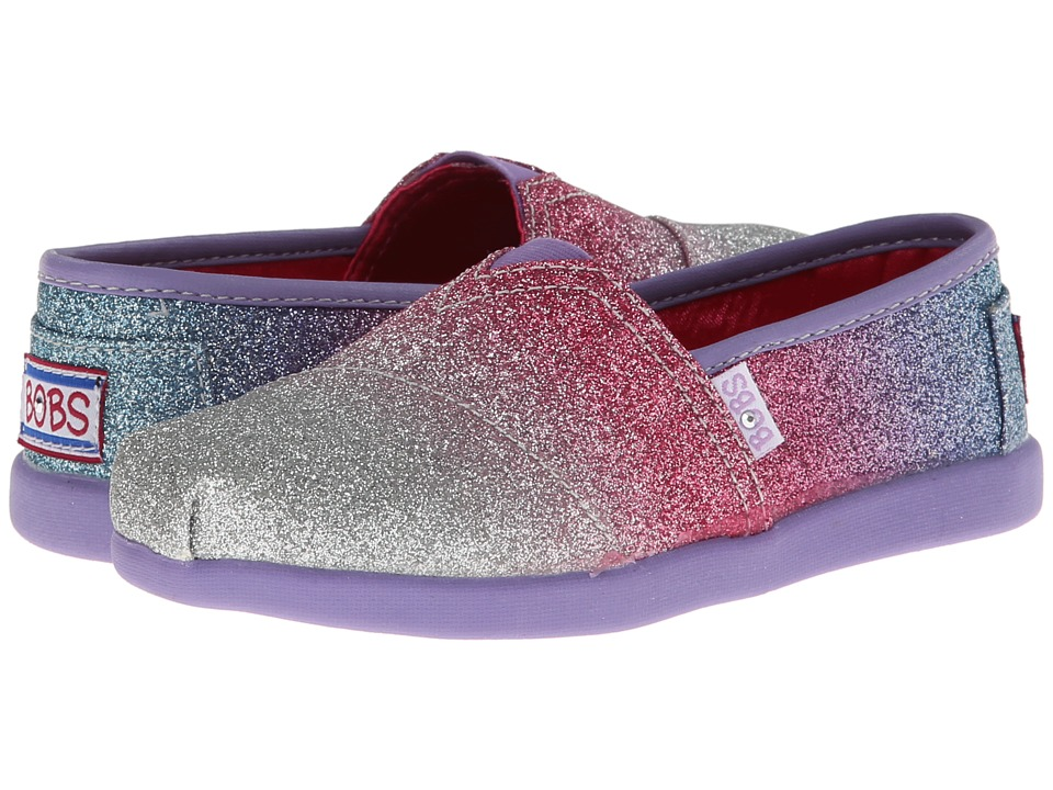 SKECHERS KIDS - Lil Bobs - Bobs World 85108L (Little Kid/Big Kid) (Silver/Lavender) Girl's Shoes
