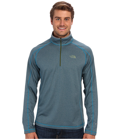 The North Face - 1/4 Zip Paramount Grid (Baja Blue Heather) Men