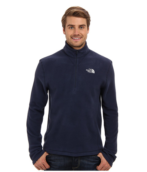 The North Face - TKA 100 Glacier 1/4 Zip (Cosmic Blue) Men
