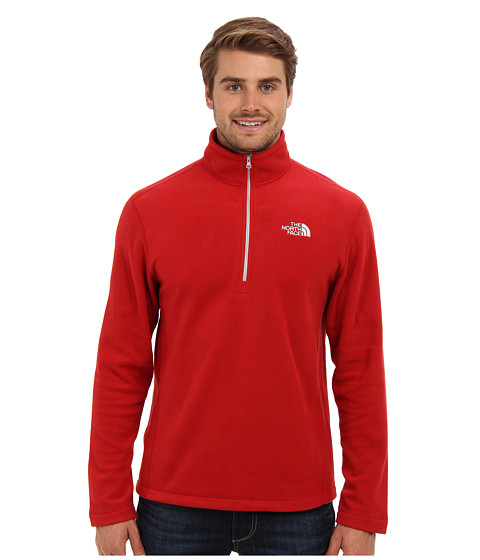 The North Face - TKA 100 Glacier 1/4 Zip (Rage Red) Men's Long Sleeve Pullover