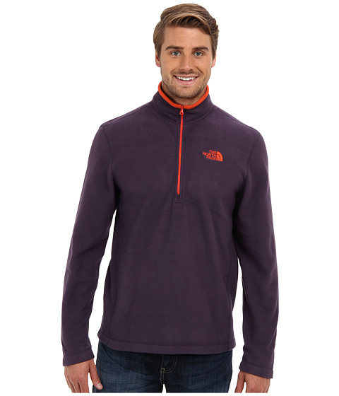 The North Face - TKA 100 Glacier 1/4 Zip (Dark Eggplant Purple) Men's Long Sleeve Pullover
