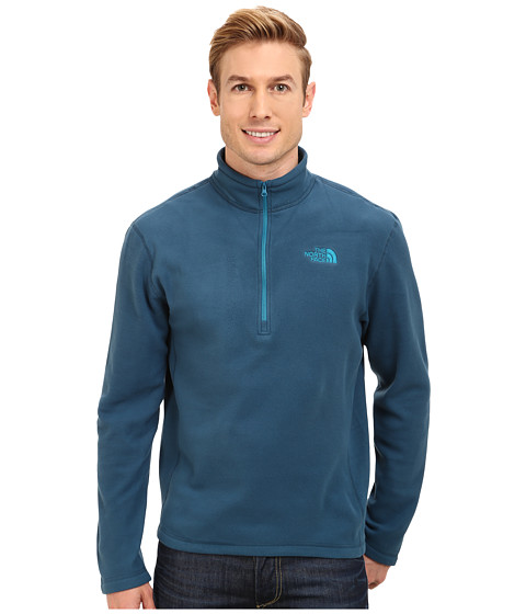 The North Face - TKA 100 Glacier 1/4 Zip (Monterey Blue) Men's Long Sleeve Pullover