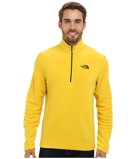 The North Face - TKA 100 Glacier 1/4 Zip (Sulphur Yellow) Men's Long Sleeve Pullover
