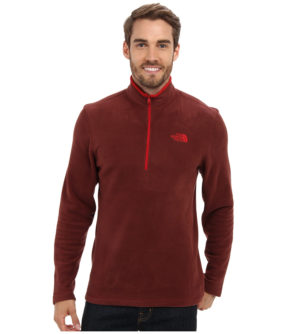 The North Face - TKA 100 Glacier 1/4 Zip (Cherry Stain Brown FA14) Men's Long Sleeve Pullover