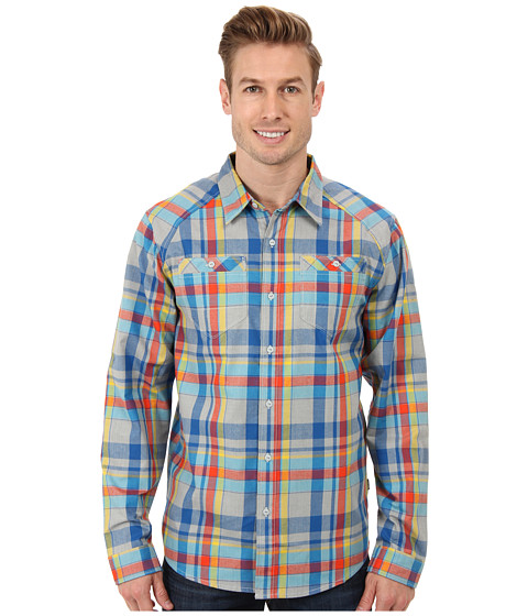 The North Face - L/S Tomales Flannel (High Rise Grey) Men's Long Sleeve Button Up