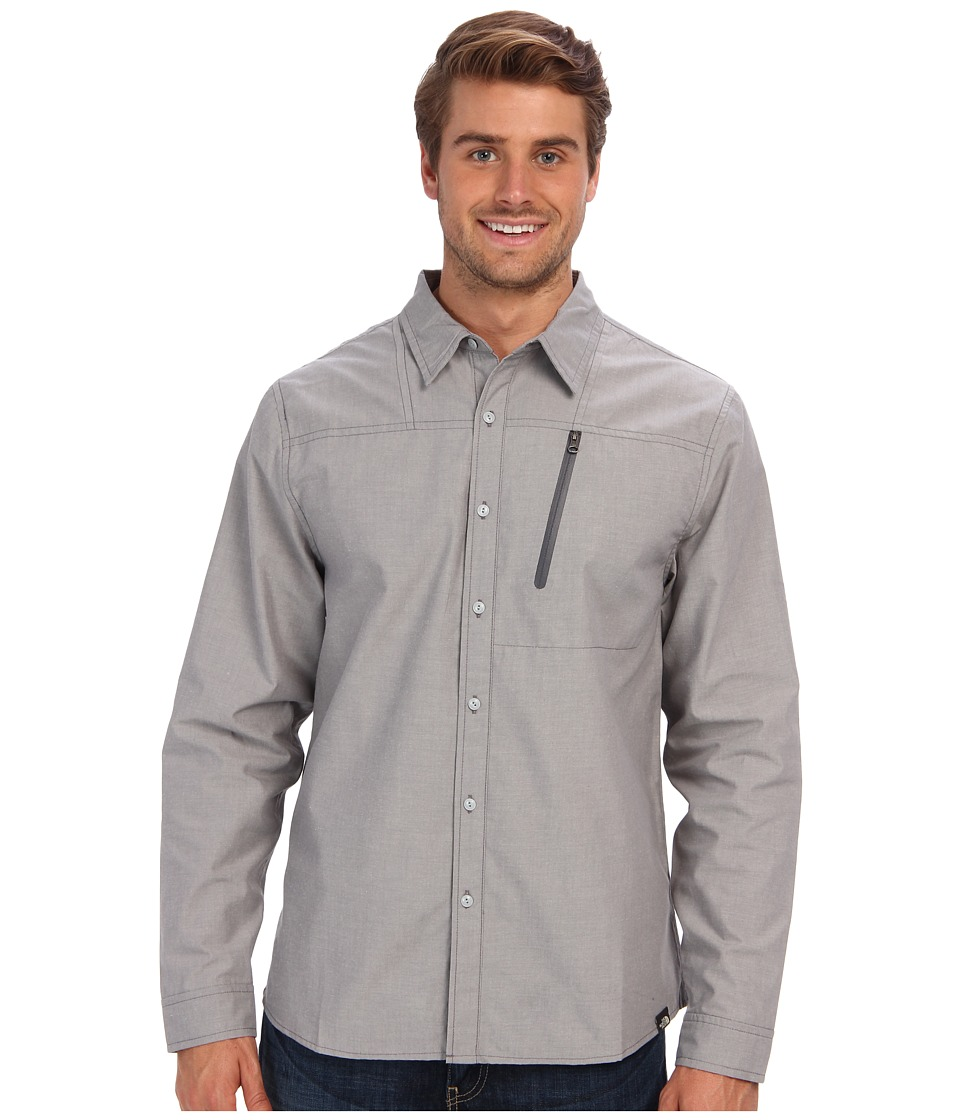 The North Face - L/S Cronin Shirt (High Rise Grey) Men's Long Sleeve Button Up