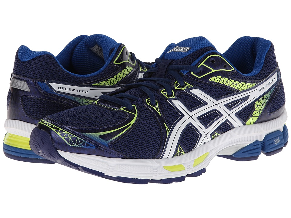 ASICS - GEL-Exalt 2 (Navy/White/Yellow) Men's Running Shoes