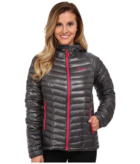 Mountain Hardwear - Ghost Whisperer Down Hooded Jacket (Graphite/Bright Rose) Women's Coat