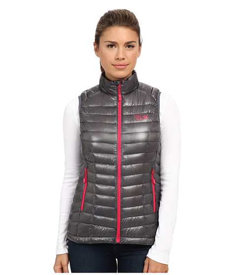 Mountain Hardwear - Ghost Whisperer Down Vest (Graphite/Bright Rose) Women's Vest