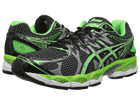ASICS - Gel-Nimbus 16 Lite-Show (Black/Apple Green/Silver) Men's Running Shoes