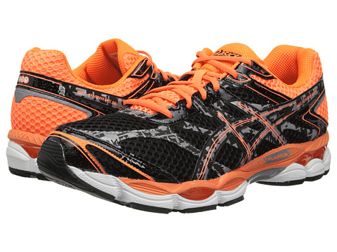 ASICS - Gel-Cumulus 16 Lite-Show (Onyx/Black/Flash Orange) Men