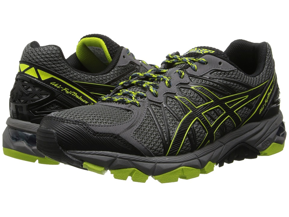 ASICS - GEL-FujiTrabuco 3 Neutral (Storm/Black/Lime) Men's Running Shoes