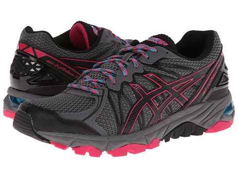 ASICS - GEL-FujiTrabuco 3 Neutral (Titanium/Black/Magenta) Women's Running Shoes