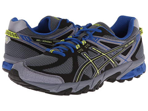 ASICS - GEL-Sonoma (Titanium/Black/Royal) Men's Running Shoes