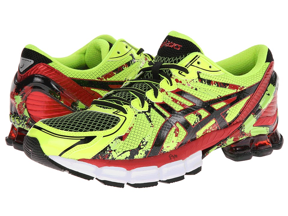 ASICS - GEL-Sendai 2 (Flash Yellow/Black/Red) Men's Running Shoes
