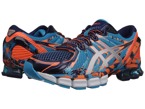 ASICS - GEL-Sendai 2 (Blue/White/Orange) Men's Running Shoes
