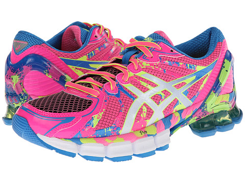 ASICS - Gel-Sendai 2 (Hot Pink/White/Flash Yellow) Women
