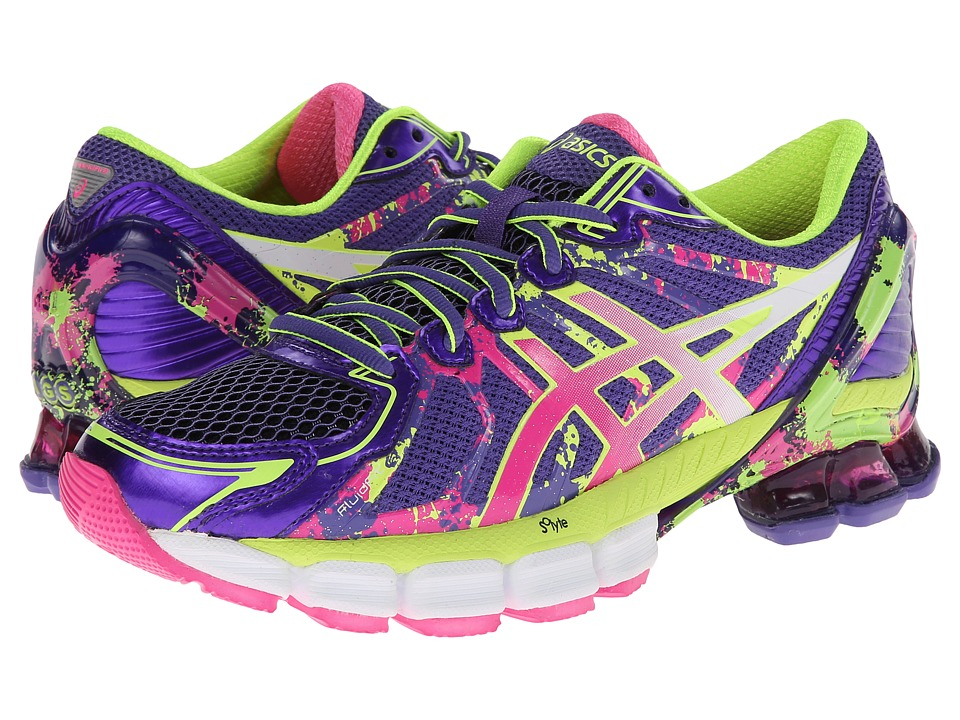 ASICS - Gel-Sendai 2 (Purple/Hot Pink/Flash Yellow) Women's Running Shoes