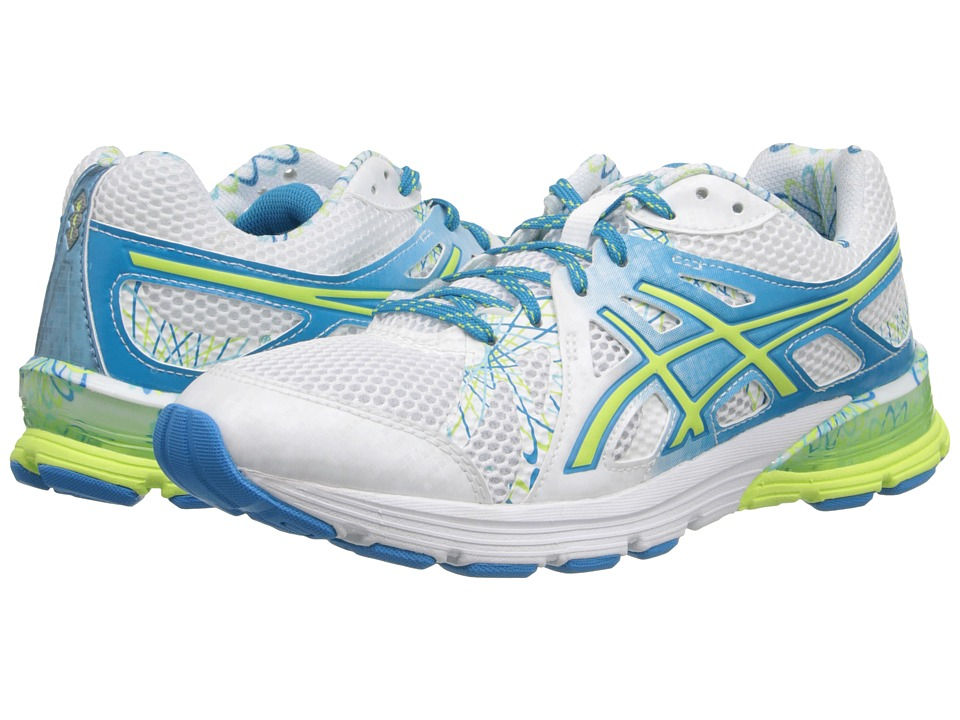 ASICS - GEL-Preleus (White/Sharp Green/Blue) Women's Running Shoes