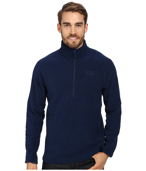 Mountain Hardwear - Toasty Tweed Quarter Zip Pullover (Collegiate Navy) Men's Long Sleeve Pullover