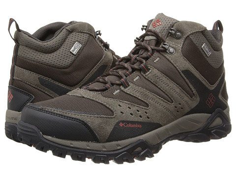Columbia - Peakfreak XCRSN Mid Outdry (Mud/Cedar) Men's Shoes