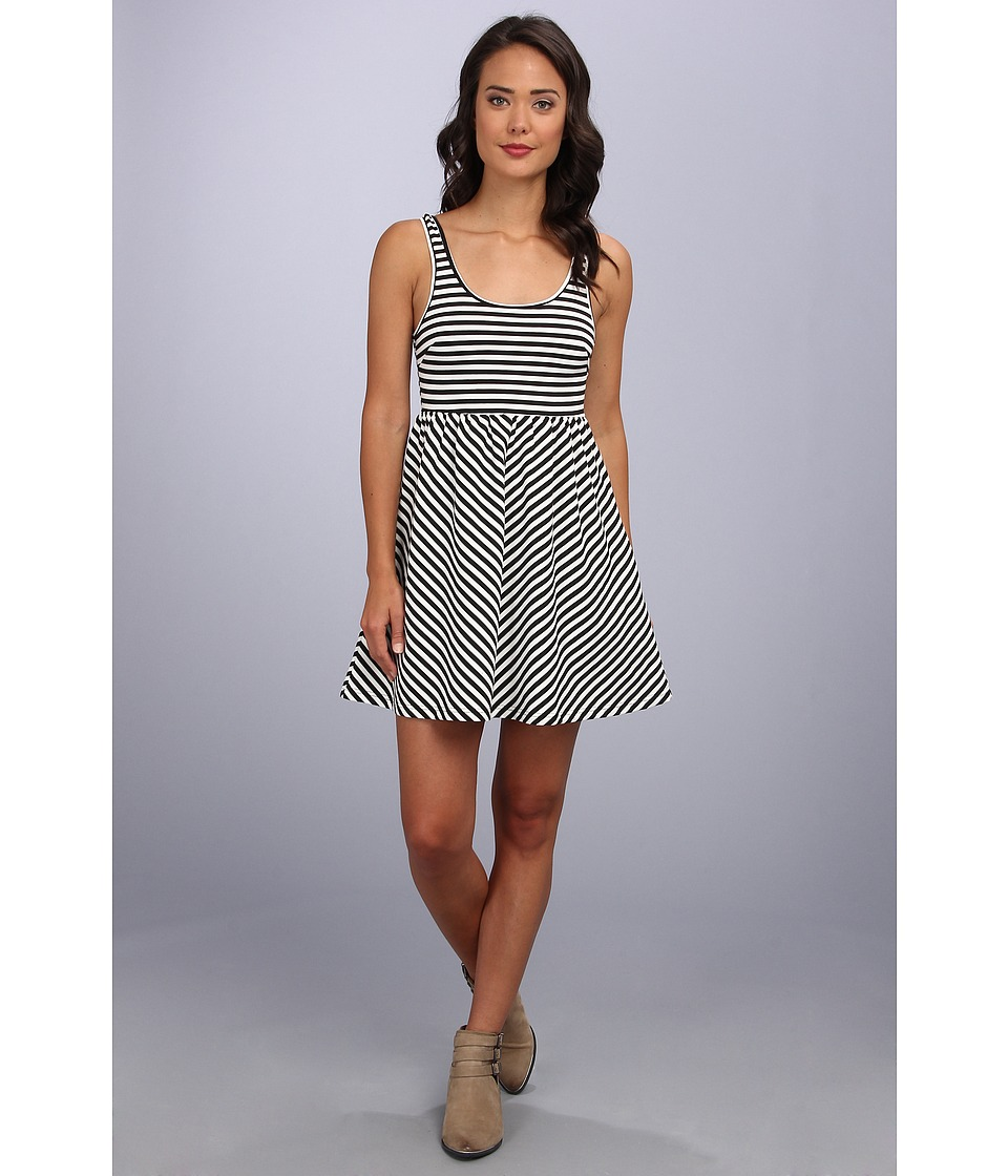 MINKPINK - Crossing The Rubicorn Dress (Black/White) Women
