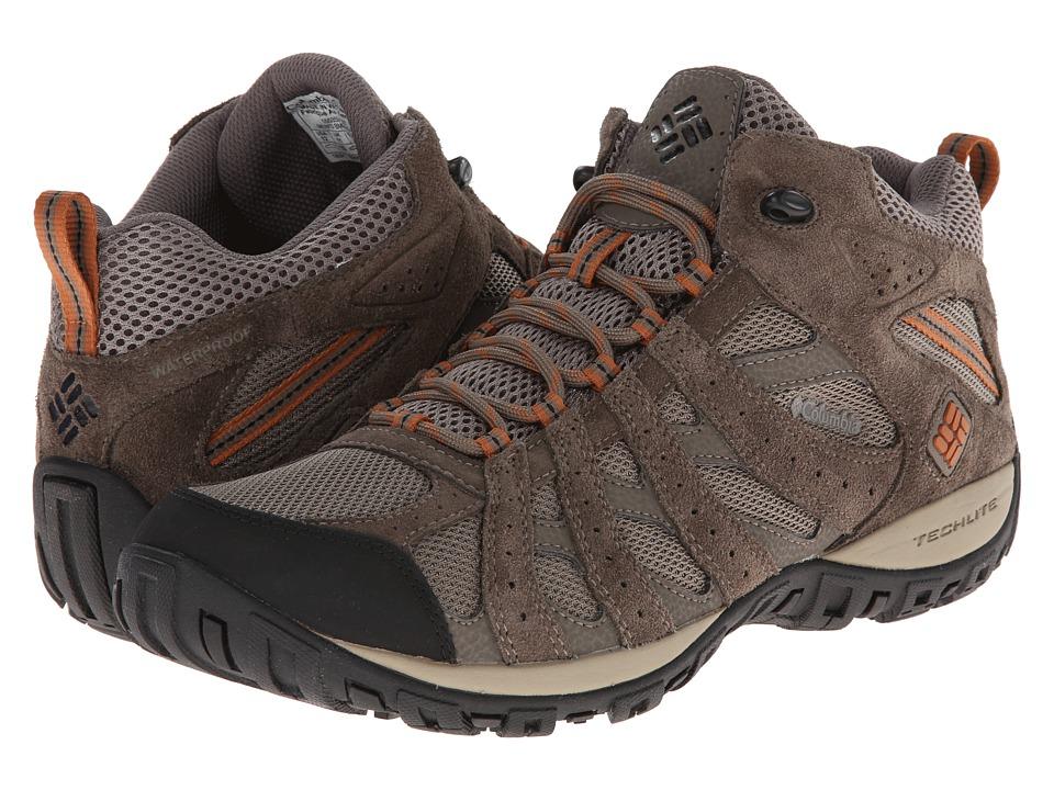 Columbia - Redmond Mid Waterproof (Pebble/Dark Ginger) Men's Shoes
