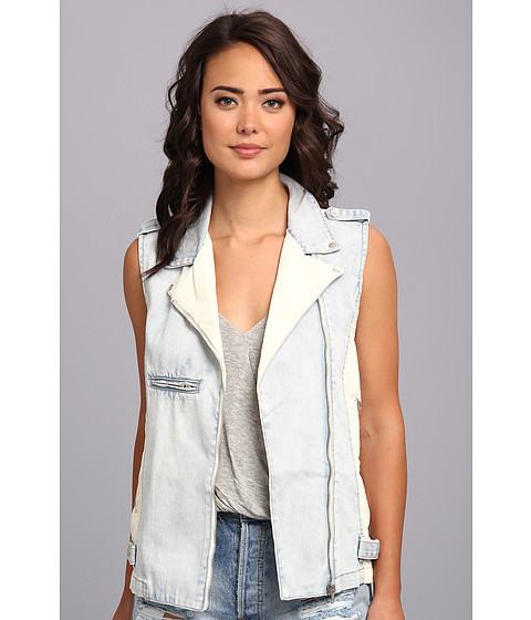 MINKPINK - White Trash Superstar Vest (Light Blue) Women's Vest