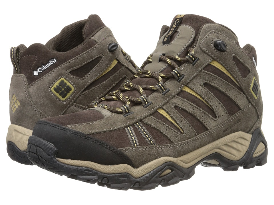 Columbia - North Plains Mid Leather Waterproof (Cordovan/Prairie Sand) Men's Hiking Boots