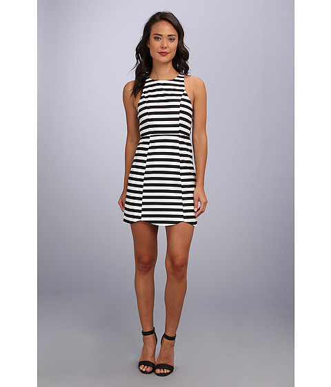 MINKPINK - Monochrome Pop Dress (Black/White) Women
