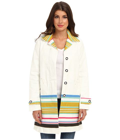 Desigual - After Botticelli Coat (Blanco) Women's Coat