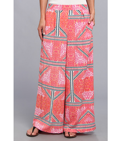 MINKPINK - Eastern Aztec Palazzo Pant (Multi) Women's Casual Pants