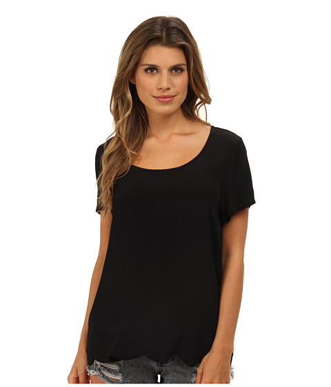 MINKPINK - Tales Of Tomorrow Top (Black) Women's Short Sleeve Pullover