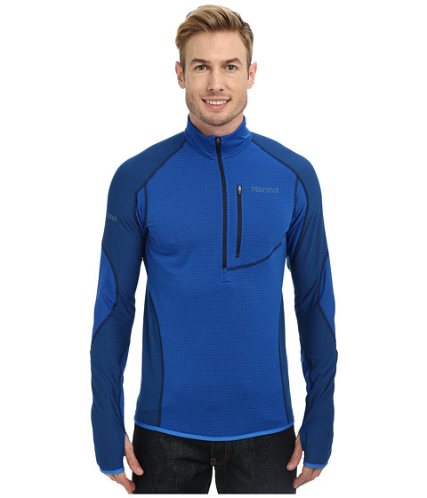 Marmot - Thermo 1/2 Zip (Peak Blue/Blue Sapphire) Men's Long Sleeve Pullover