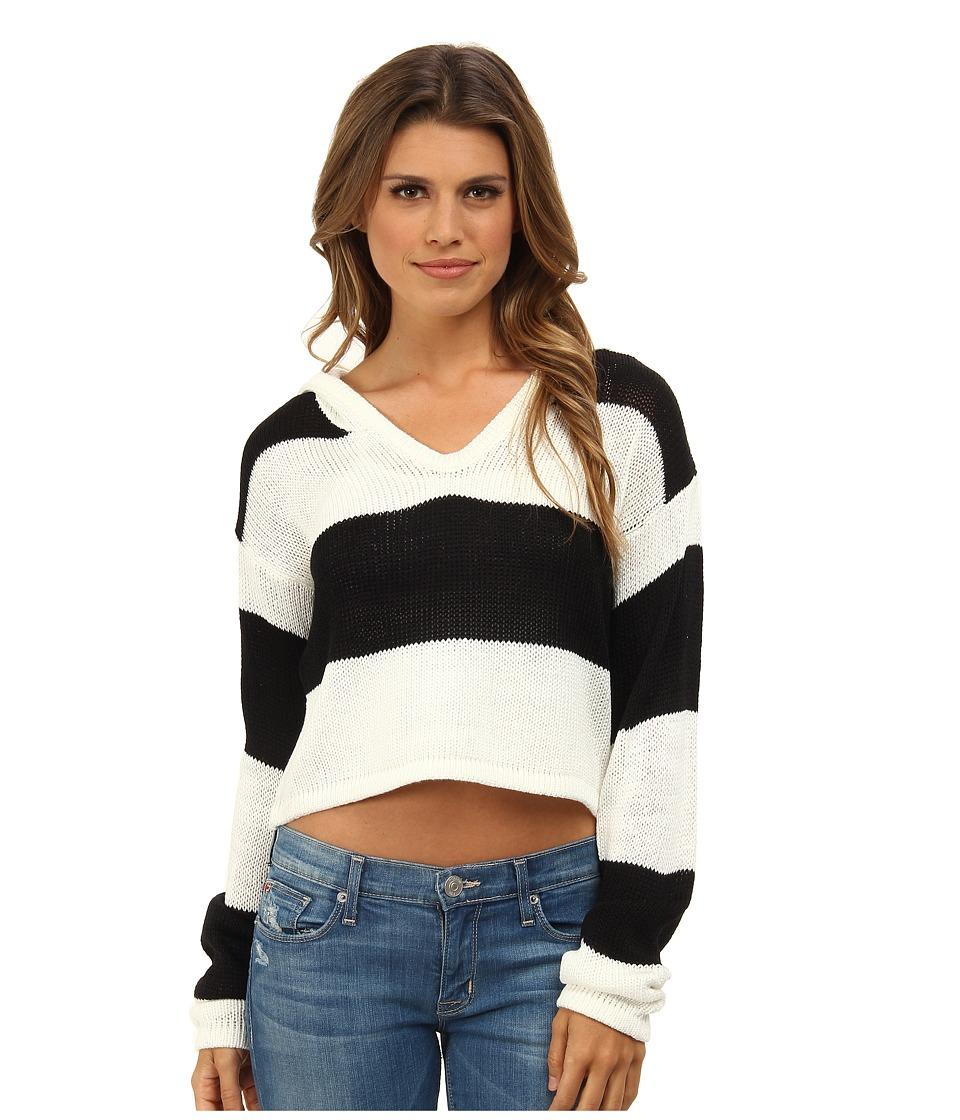 MINKPINK - Never Enough Stripe Knit (Chalk White/Black) Women's Sweater