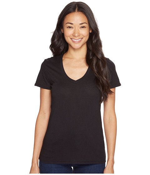 Mod-o-doc - Supreme Jersey Fitted S/S V-Neck (Black) Women