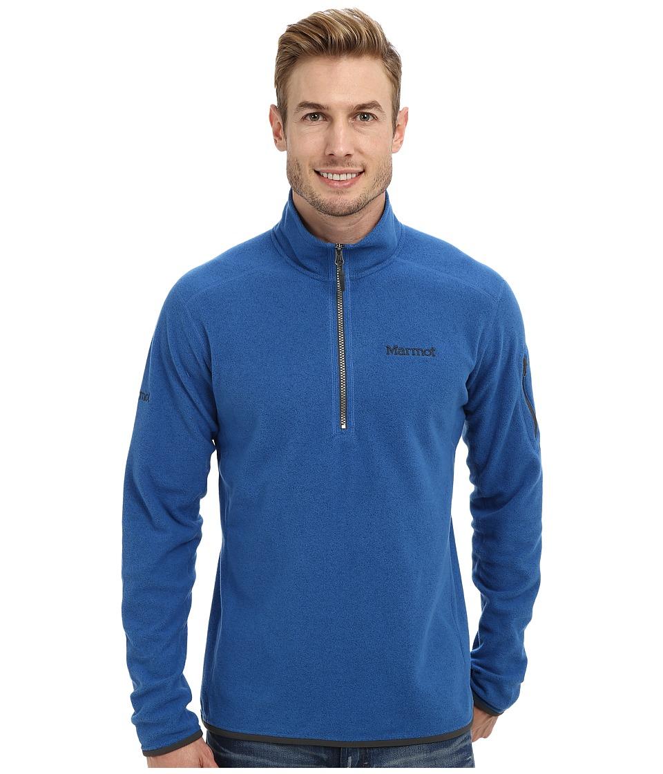 Marmot - Garwood 1/2 Zip (Blue Sapphire) Men's Long Sleeve Pullover