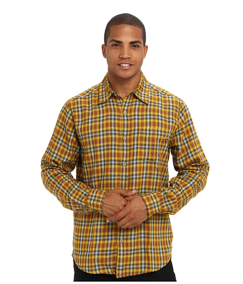 Marmot - Fairfax Flannel L/S (Mustard Yellow) Men's Long Sleeve Button Up