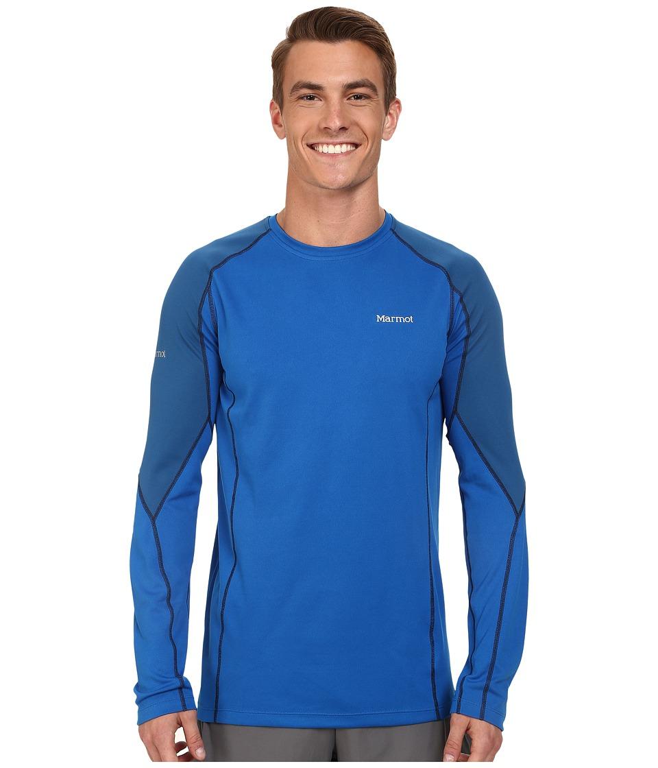 Marmot - ThermalClime Pro LS Crew (Peak Blue/Blue Sapphire) Men's T Shirt