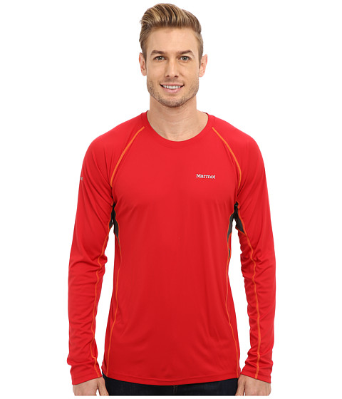 Marmot - Frequency L/S (Team Red) Men's T Shirt