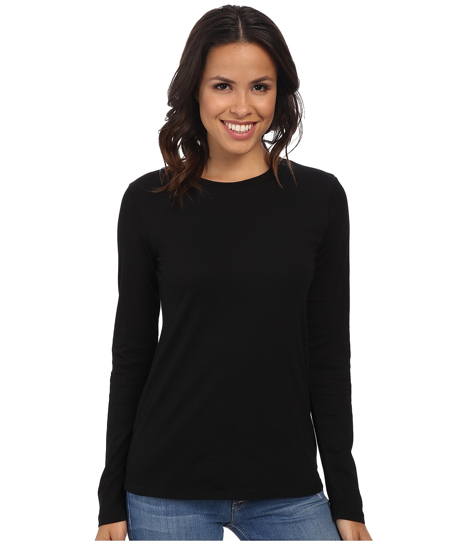 Mod-o-doc - Supreme Jersey Fitted L/S Crew (Black) Women's T Shirt