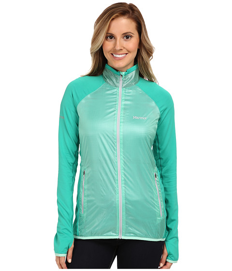 Marmot - Frequency Hybrid Jacket (Ice Green/Lush) Women's Sweatshirt