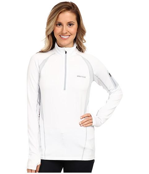 Marmot - Elance 1/2 Zip L/S (White) Women's Long Sleeve Pullover