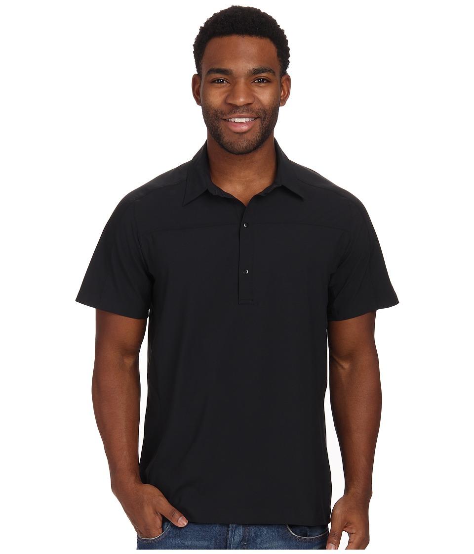 Arc'teryx - Adventus Comp Polo S/S (Black) Men's Short Sleeve Pullover