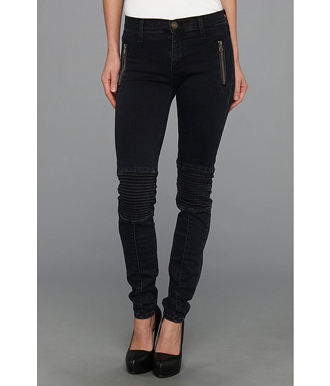 Apparel-Hudson Stark Moto Pant in Blue Wild (Blue Wild) Womens Jeans