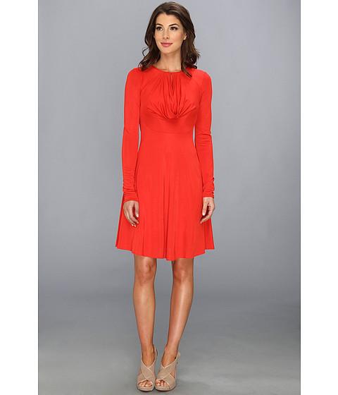 BCBGMAXAZRIA - Sam Knit Cowl Dress (Curry Red) Women