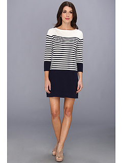 SALE! $109.99 - Save $88 on BCBGMAXAZRIA Ethel Knit Sweater Dress (Navy Combo) Apparel - 44.45% OFF $198.00